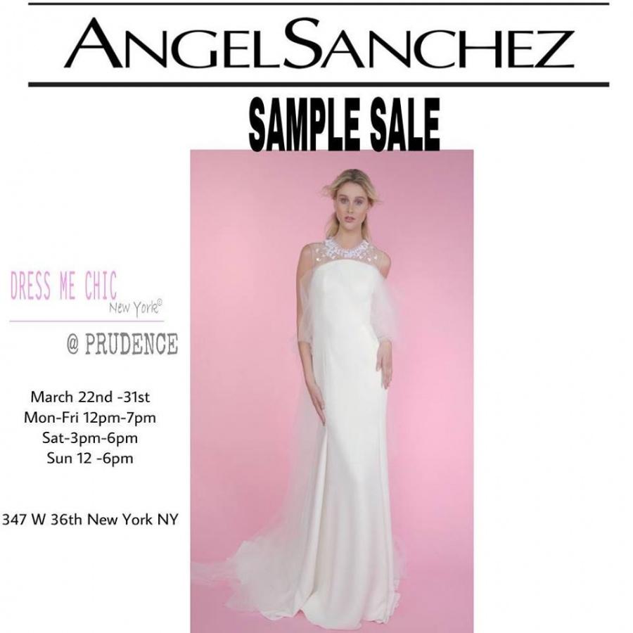 Angel Sanchez Bridal Sample Sale -- Sample sale in New York