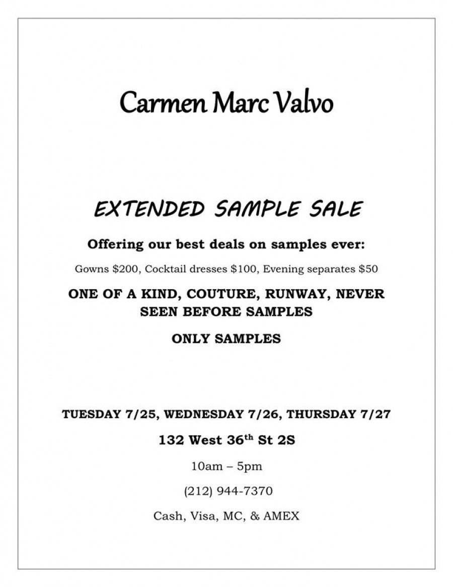 Yosi Samra / Tamara Mellon and more sample sale